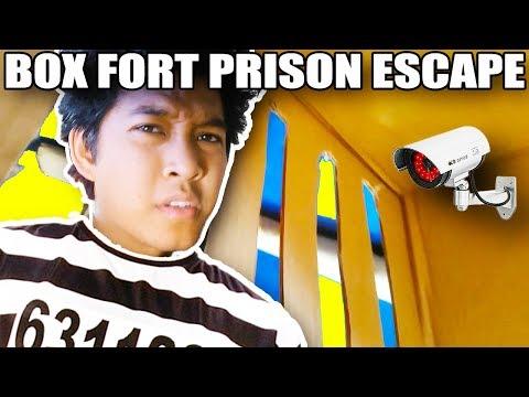 *KIDNAPPED*! 24 HOUR BOXFORT PRISON ESCAPE ROOM!!📦🚔