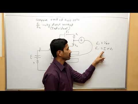 Maharashtra Board Physics Use of Potentiometer to compare emf of two cell by direct method