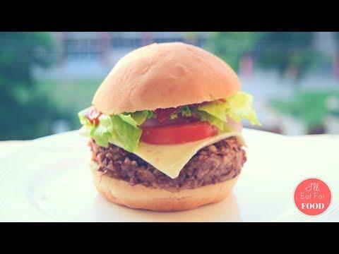 Black Bean Burger - High Protein │Episode 068 │ I'll Eat For Food