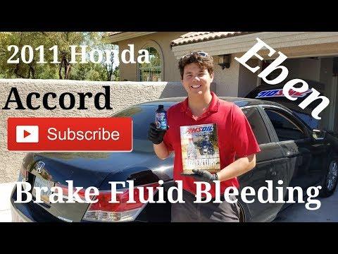 2011 Honda Accord Brake Fluid Change & Bleeding