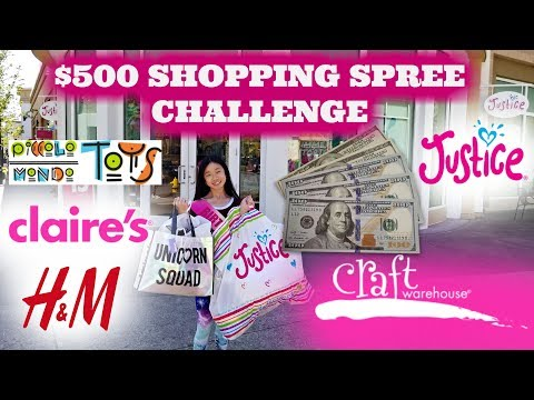 $500 SQUISHIES, SLIME, CLAIRE'S, JUSTICE, CRAFT, TOYS SHOPPING SPREE CHALLENGE!!! 13TH BIRTHDAY GIFT