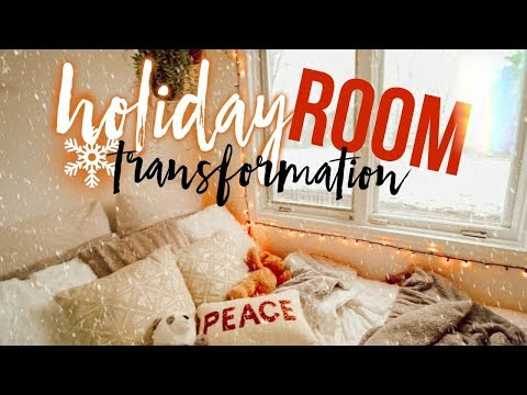 HOW TO TRANSFORM YOUR ROOM INTO A CHRISTMAS WINTER WONDERLAND!