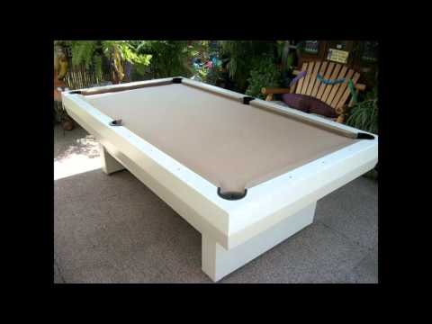 All-weather outdoor pool table 2000 series video