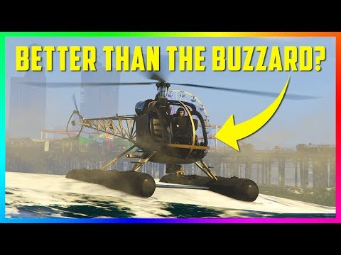 The BEST NEW Helicopter In GTA Online! Sea Sparrow VS Buzzard VS Hunter VS Akula! (GTA 5 DLC)