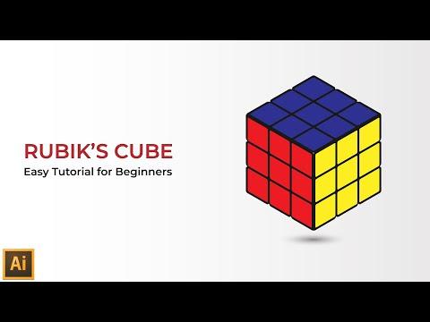 Isometric Rubik's Cube in Illustrator- Isometric Illustrator Tutorial