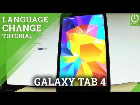 Change Language in SAMSUNG Galaxy Tab 4 - Language Settings