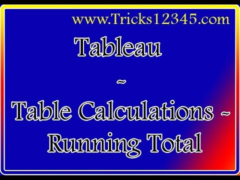 Tableau _ Table Calculations  _ Running Total