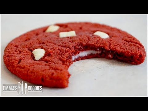 Red Velvet Cookies Recipe With Cream Cheese Filling ( Stuffed with Cream Cheese Frosting )