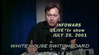9/11 CONSPIRACY:  ALEX JONES PREDICTS 9/11 IN JULY 2001
