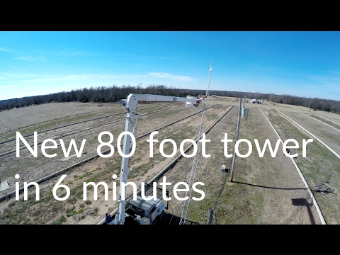 New 80 foot internet tower installed in less than 6 minutes!