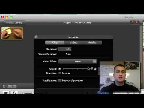 30 Videos in 30 Days - #7 Speed Up Movie Clips with iMovie '09
