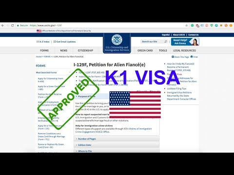 K1 Fiance Visa Approved Form i-129 F step by step - How to Fill out 2018