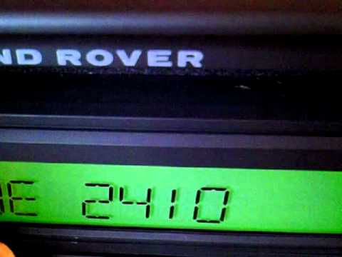 LAND ROVER CD PLAYER CODE