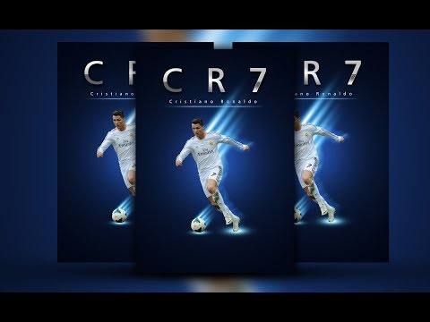 Tutorial How to Create a Cristiano Ronaldo Design Poster CR7 Using Adobe Photoshop Cs5