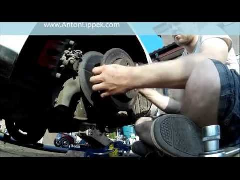 How to remove stuck brake disc that is corroded on without special tools