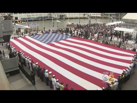 Memorial Day Ceremony Held On The Intrepid
