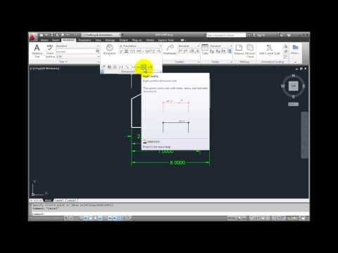 AutoCAD 2012 - Modifying Dimensions with Multifunction Grips