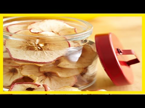 How to make dried apples and apple chips in the oven || Health for all of us