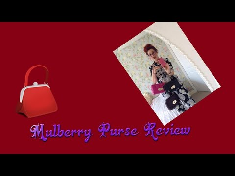 Review of mulberry long lock purse in glossy goat pink leather ,helpful review