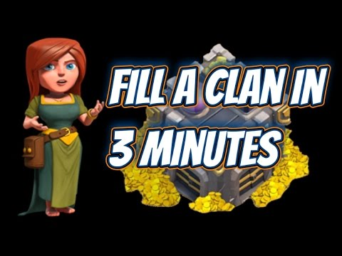Clash of Clans - How to fill a clan in 3 minutes