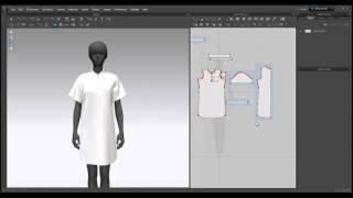 Optitex 3d dress draping | 3d Tutorial | 3d Modeling