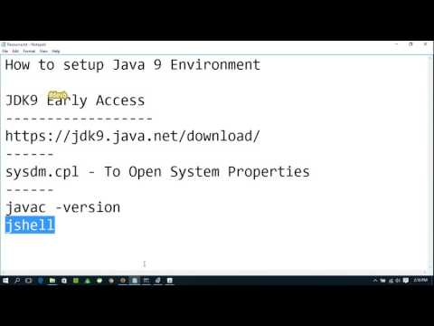 How to setup Java 9 Environment in Windows