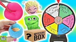 Download Wheel of Squish! Cutting Open Squishy Toys And Blind Bags FUN! Doctor Squish Video