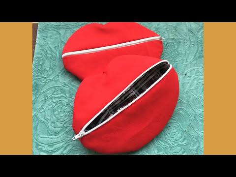 Shine Sewing Tutorial Makeup Bag Red Lips