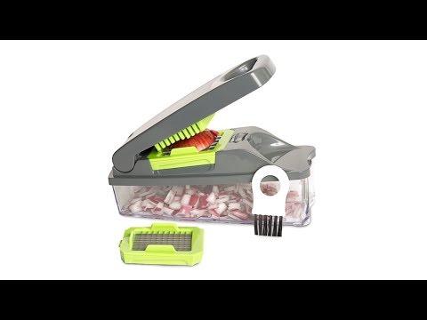 Genial Gadget para Cortar Verduras y Frutas en Cubos Perfectos