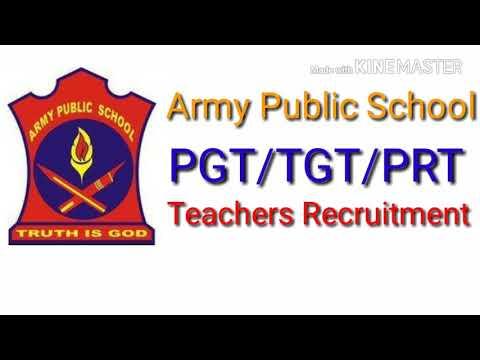 Army Public School pgt/tgt/prt teachers recruitment