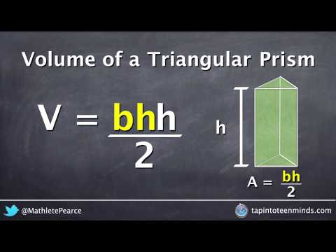 Visualizing the Formula for Volume of a Triangular Prism