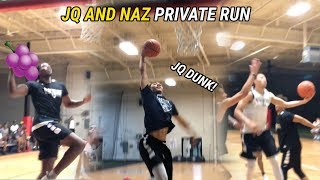 Jahvon Quinerly, Naz Reid & Jordan Walker Show Out At PRIVATE RUN! Jelly Fam Looks COLLEGE READY 😤