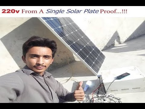 |220V Electricity |From A Single |Solar Plate Without Battery With Proof !!!