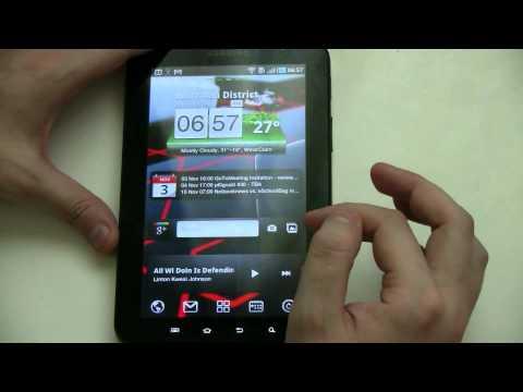 Samsung Galaxy Tab Customization - New Launcher and Widgets