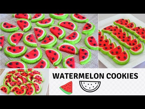 Watermelon Cookies   Crispy & Buttery   Perfect For Beginners   Recipe From Scratch-Food Connection