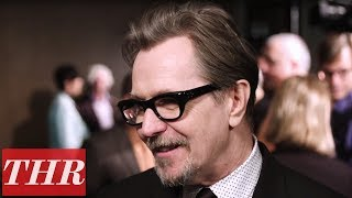 Gary Oldman Reveals The Origins of Dancing as Churchill to James Brown | THR Nominees Night
