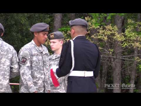 Patriotic flag burning: Bluffton JROTC's Flag Retirement ceremony