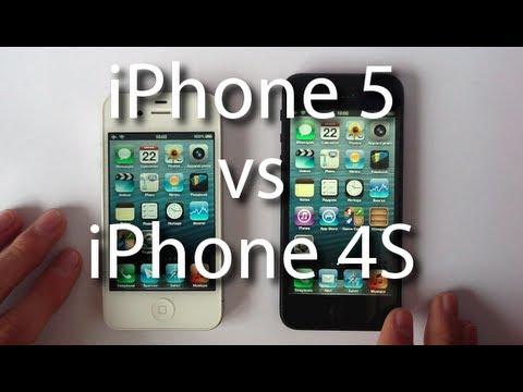 Comparatif iPhone 5 vs iPhone 4S (design et rapidité)
