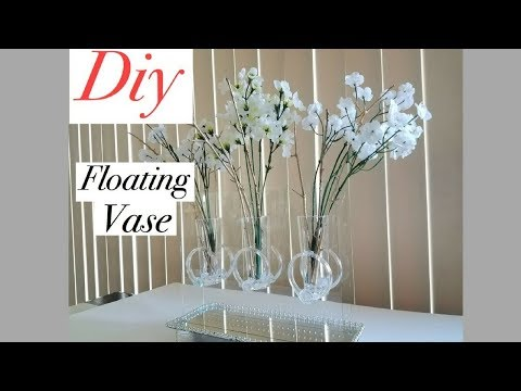 Diy Mirror Table Decor Floating Vase Using Dollar Store Items