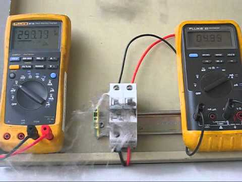 Testing of Polarised DC Circuit Breakers at RISE