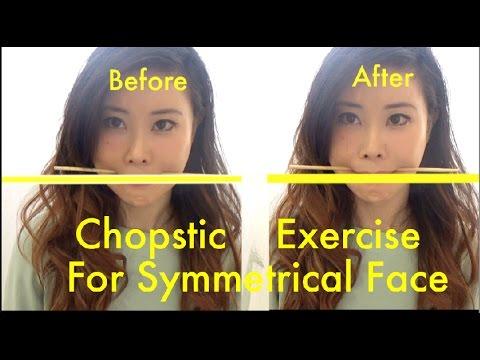 Chopstick Exercise for Symmetrical Face | How to Fix Facial Asymmetry