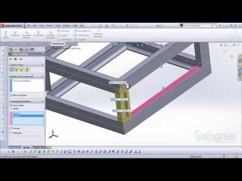 SOLIDWORKS Quick Tip - Weldments Basic Tools and Methods