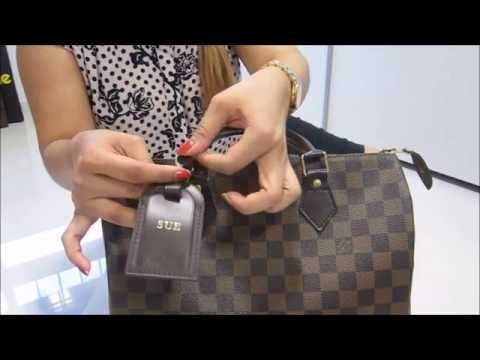 How to put the LV Luggage Tag onto your LV Speedy 30~!!!