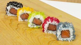 Coloured Tempura for Sushi - Sushi Cooking Ideas #5
