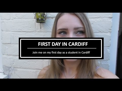FIRST DAY IN CARDIFF AS A STUDENT + WHAT I ATE TODAY - VLOG #1