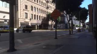 Downtown Los Angeles Explosion