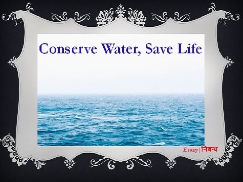 An Essay on 'Conserve Water Save Life' in English Language