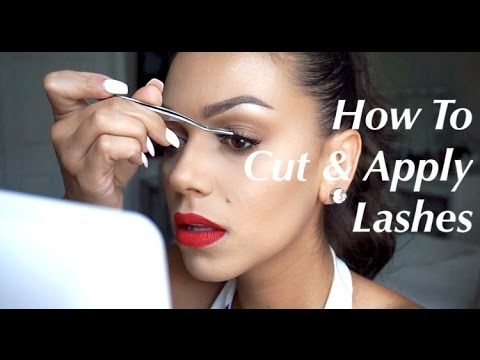 How To Cut and Apply False Lashes