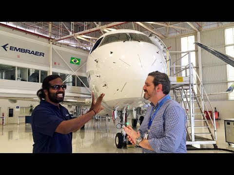 The Embraer Factory Tour: Wilbur Sargunaraj in São José dos Campos