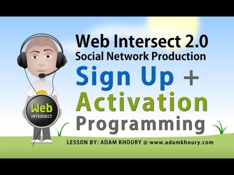6. Sign Up Form and Email Activation PHP MySQL JavaScript Programming Tutorial